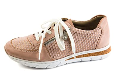 e259a8b9cc8a Rieker Damen Komfort Sneaker Low Rosa Gr. 37  Amazon.de  Schuhe ...