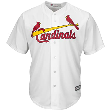 d968d4159711 Amazon.com   Majestic St. Louis Cardinals Cool Base White Tackle ...