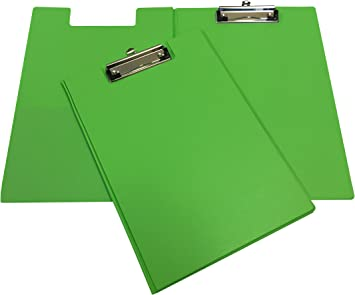 Neon Green A4 Clipboard Office Document Storage Paper Holder 9 x 12 inch