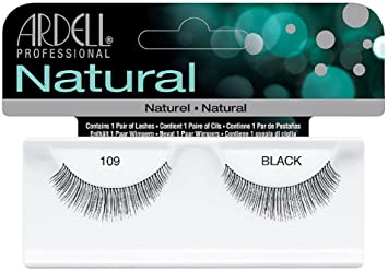 fba8b18f312 Amazon.com : Ardell Natural Lashes, Black [109] 1 pair (Pack of 4) : Beauty