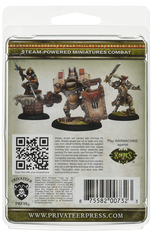 Warmachine Privateer Press Mercenary Hammerfall Officer and Standard Model Kit