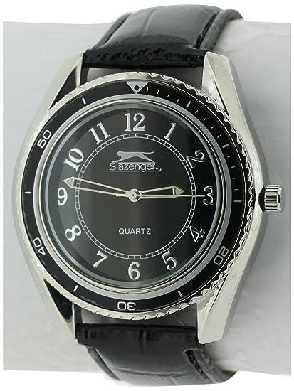 SLAZENGER SLZ183/B - Reloj de Pulsera Hombre, Color Negro: Amazon.es: Relojes