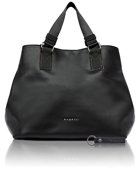 bugatti Senso borsa in finta pelle da donna raffinata shopper, colore nero