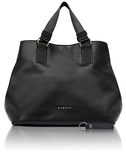 bugatti Senso Rfid Faux Leather Ladies  Tote Bag Classic Shopper in Black   Amazon.in  Shoes   Handbags 908df68c0d2d3