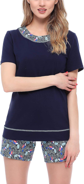 Merry Style Pijama Conjunto Camiseta y Pantalones Ropa de Cama Mujer MS10-231