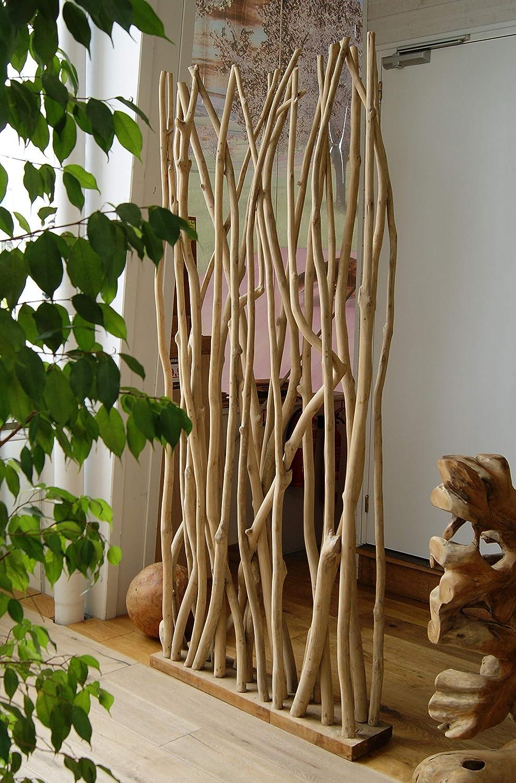 Nature Meubletmoi Paravent Branches de Teck boh/ème Chic Asia s/éparation de Style scandinave