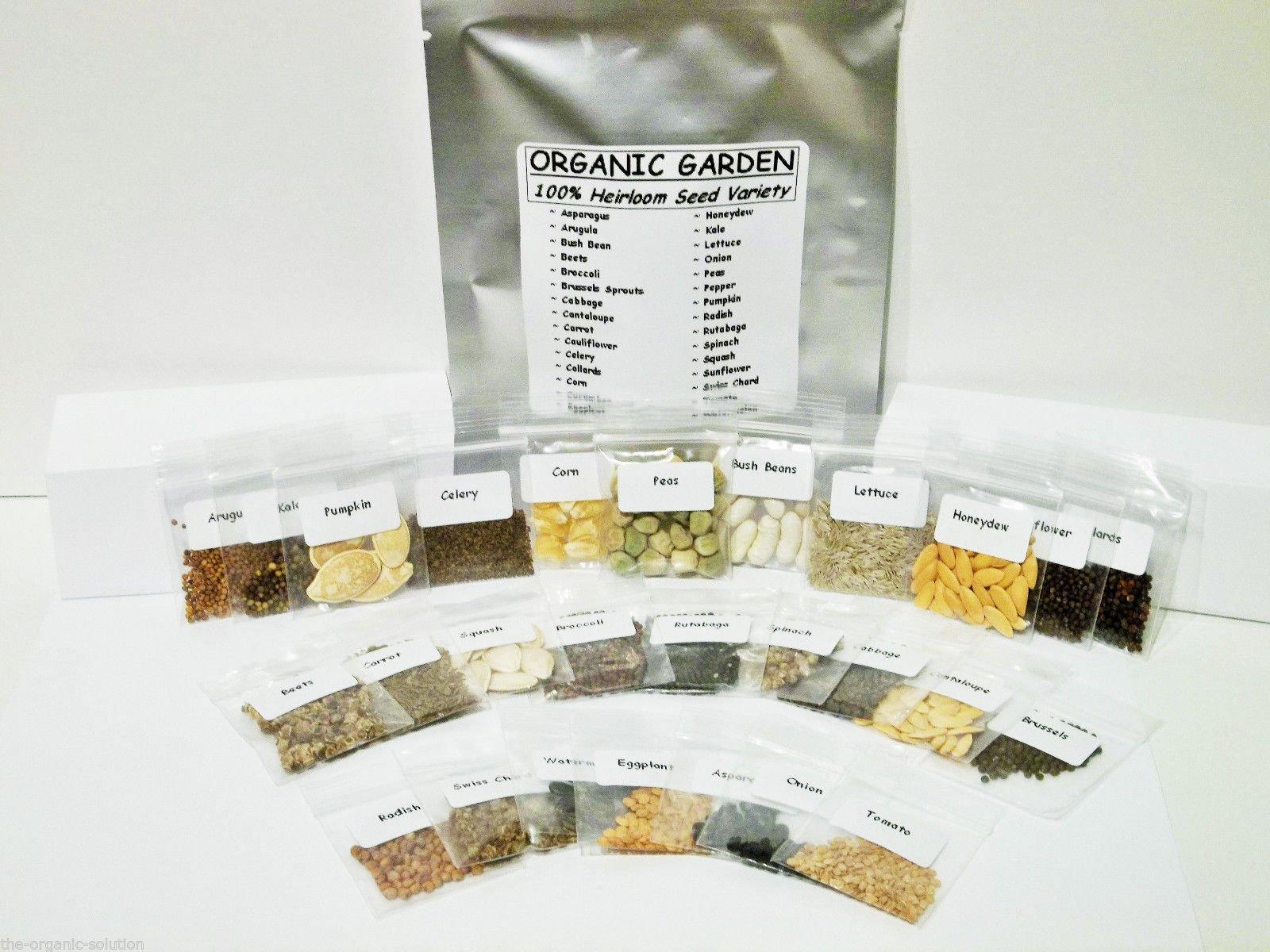 Emergency Survival Vegetable Fruit Garden Seed Heirloom Prepper Lot Kit MRE Food 30 Varieties