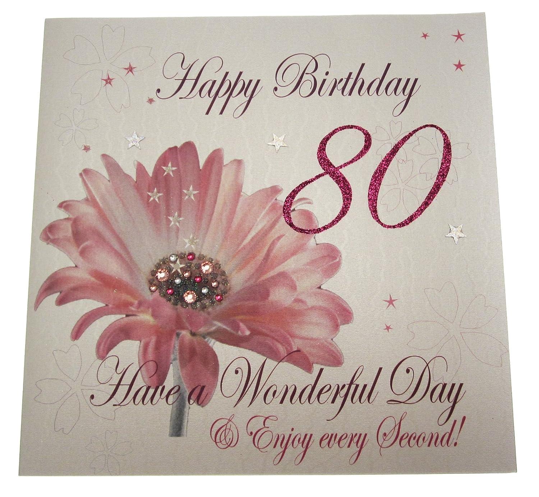 White Cotton Cards código XLWBA80 diseño de 80 cumpleaños ...