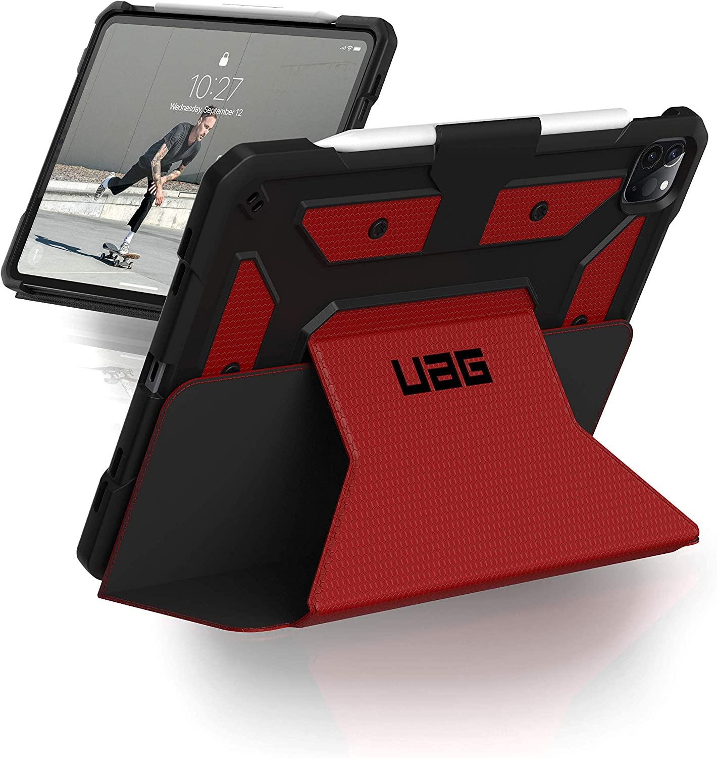 URBAN ARMOR GEAR UAG iPad Pro 11-inch (2nd Gen, 2020) Case Metropolis [Magma] Folio Slim Heavy-Duty Tough Multi-Viewing Angles Stand Military Drop Tested Rugged Protective Cover