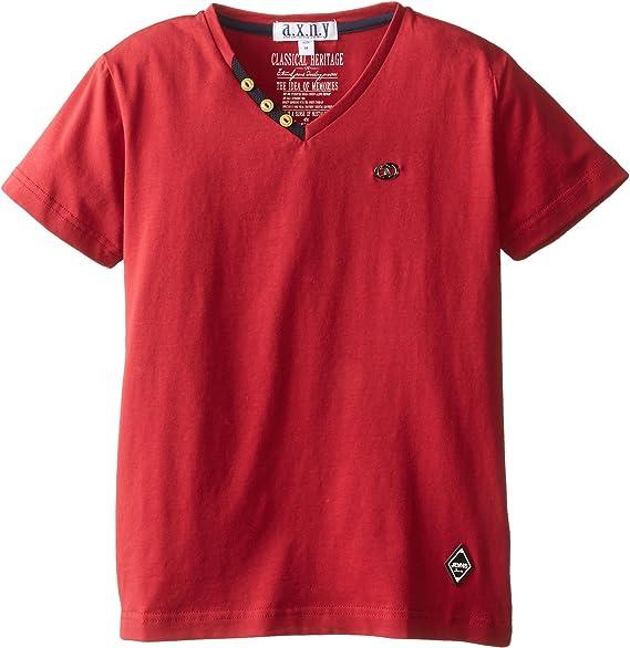 AXNY a.x.n.y Boys Little Short Sleeve V-Neck T-Shirt