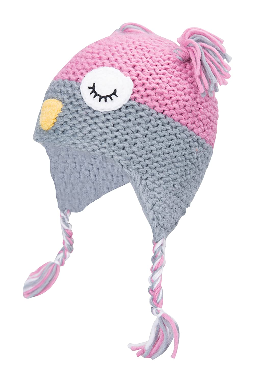 969e13aaddd Mountain Warehouse Owl Knitted Kids Hat - Easy Care    Fleece Lining -  Perfect for