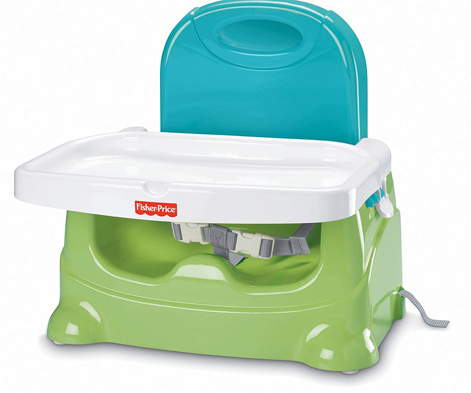 Fisher-Price Healthy Care Booster Seat, Green/Blue Fisher Price V8638