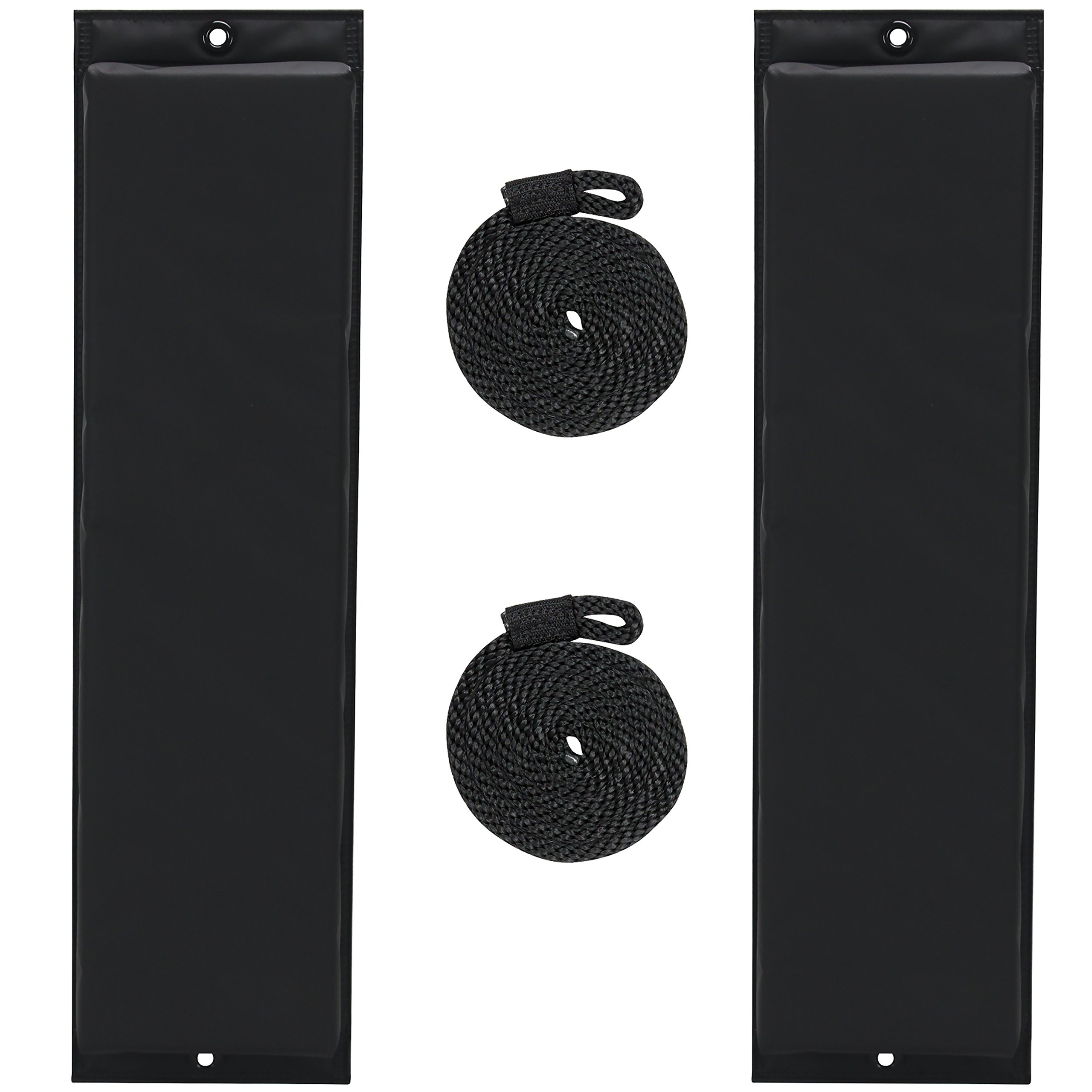 Extreme Max 3006.7246 BoatTector 26'' Flat Fender Value Pack, Black by Extreme Max (Image #1)