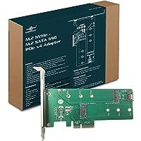 Vantec UGT-MST110 - Conversor de mSATA a SATA III, 1x M.2 NvMe, 1x M.2 SSD, Verde