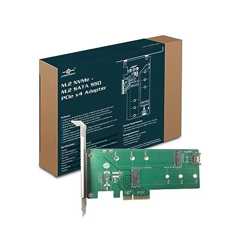 Vantec M 2 NVMe + M 2 SATA SSD PCIe x4 Adapter (UGT-M2PC200)