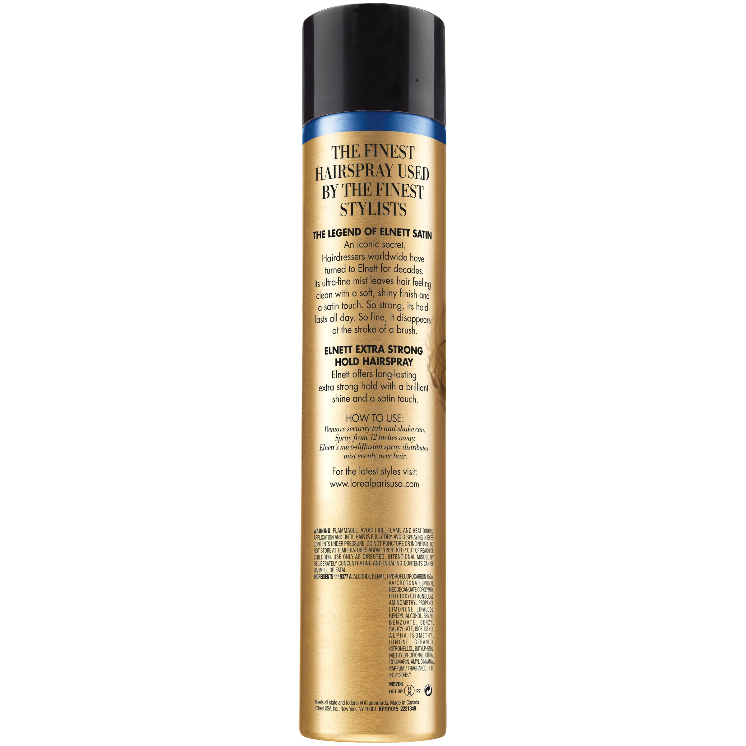 L'Oréal Paris Elnett Satin Extra Strong Hold Hairspray, 11 oz. (Packaging May Vary) by L'Oreal Paris (Image #2)
