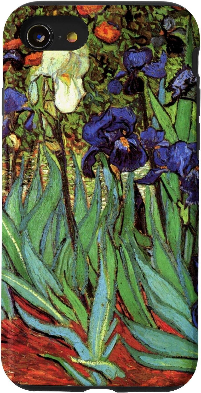 iPhone SE (2020) / 7 / 8 Masterpiece Purple Flowers 5 irises Van Gogh Painting Phone Case