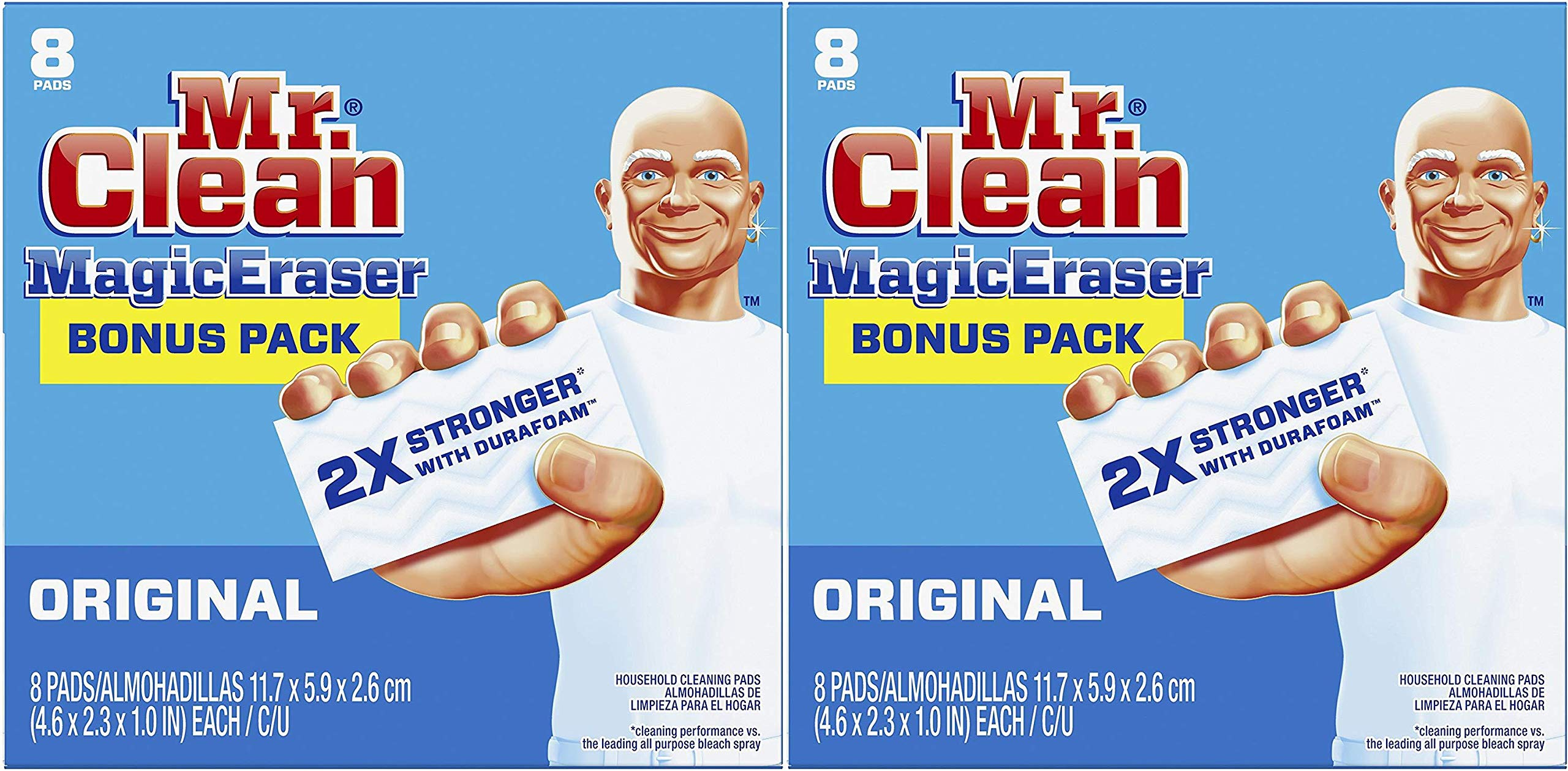 Mr. Clean Magic Eraser, 8 Count Pack of 2