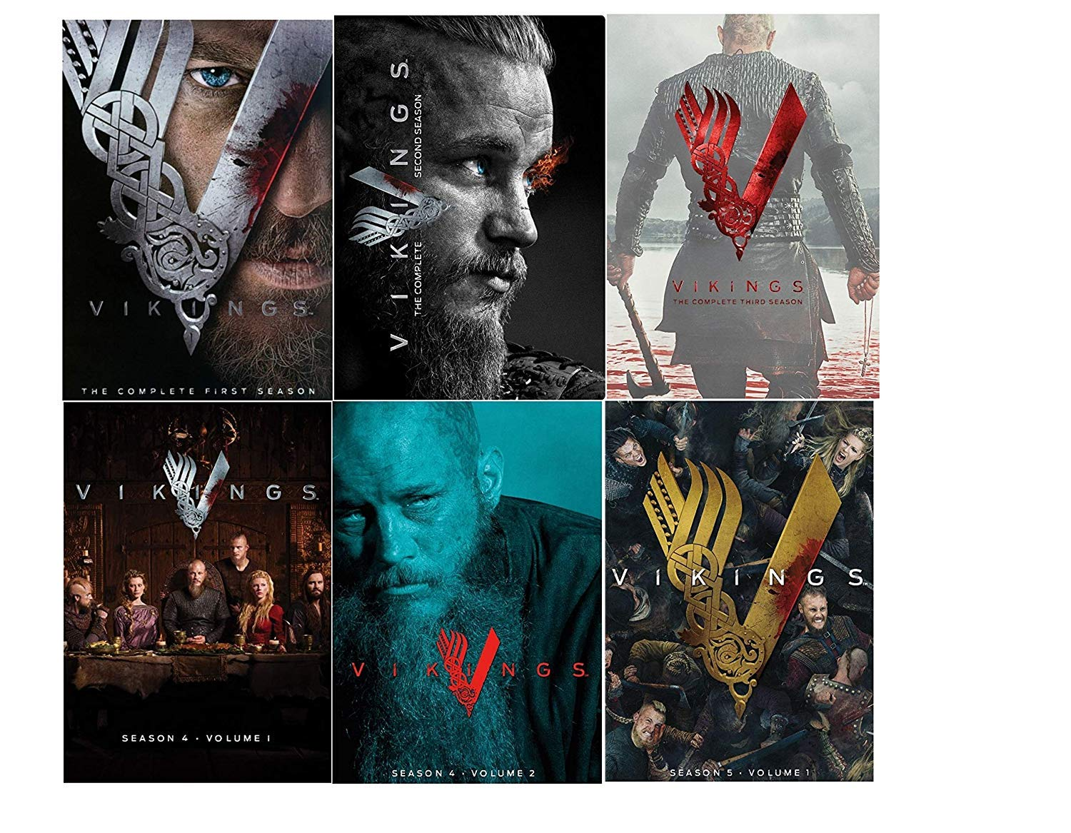 Amazon Com Vikings Complete Series Seasons 1 5 Season 5 Is Vol 1 Only Dvd Movies Tv