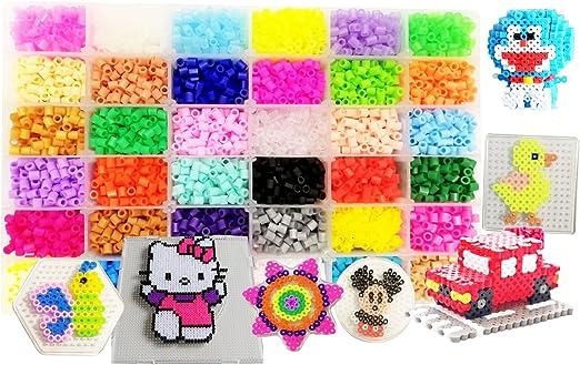 vytung Lote de 10000 Abalorios,36 Color(6 Brillar en Oscuridad) de los Granos DIY de Perler Caja de fusibles Conjunto de Perlas de 5 mm Hama Beads (5Template + 89Imagine + 6Cart de
