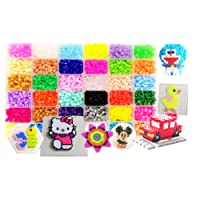 vytung Fuse Beads Kit-10000pcs 36Colors(6 Glow in Dark) 5Pegboards 89 patterns(29 full size) Ironing Papers Tweezers Storage Case Hama Beads Compatible Kit