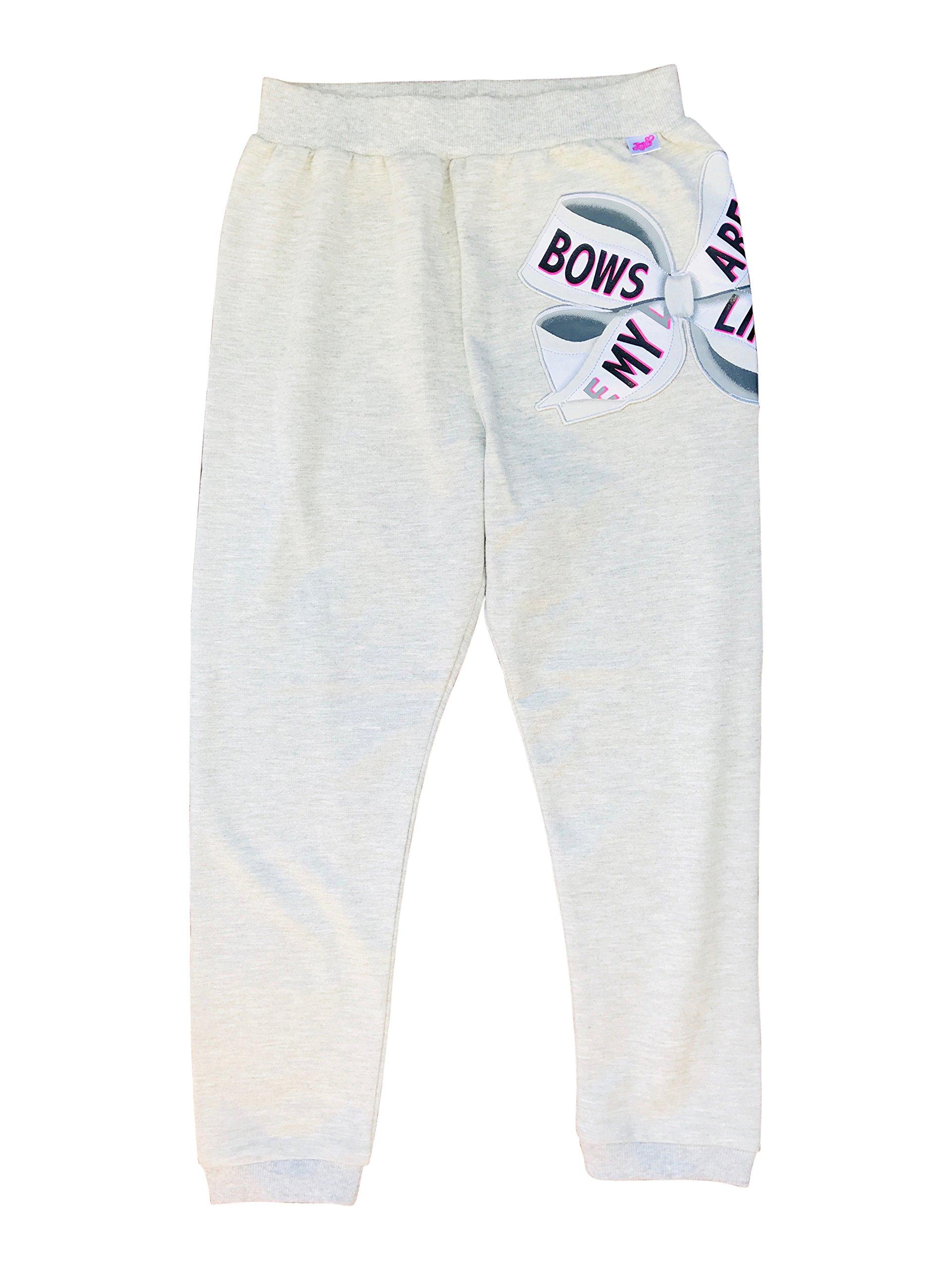jojo siwa ''Bows are My Life Heathered Sweatpants Gray Nickelodeon Size 6
