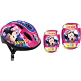 Stamp Helmet + Elbow + Knee Pads Minnie, Niñas, Pink, 50/56 Cm