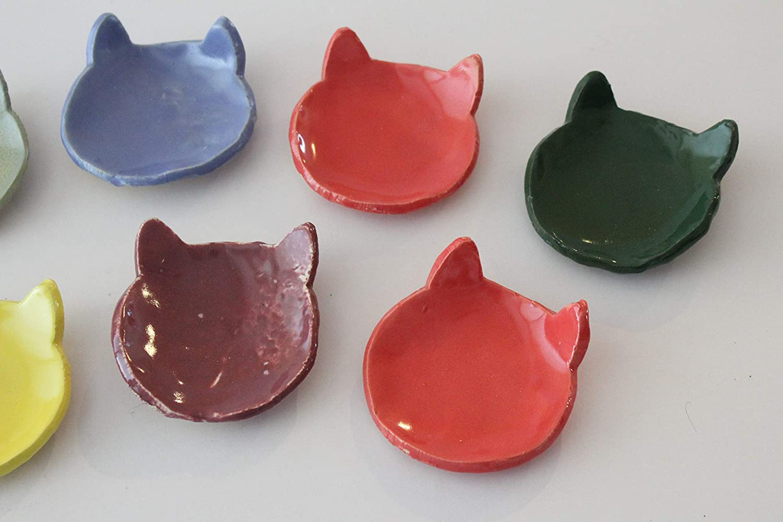 Pottery Bowl Green Bowl Set of Two Jewelry Holder Ceramic Bowls Stoneware Serving Bowl Trinket Dish Ring Dish Ceramic Gift for Women
