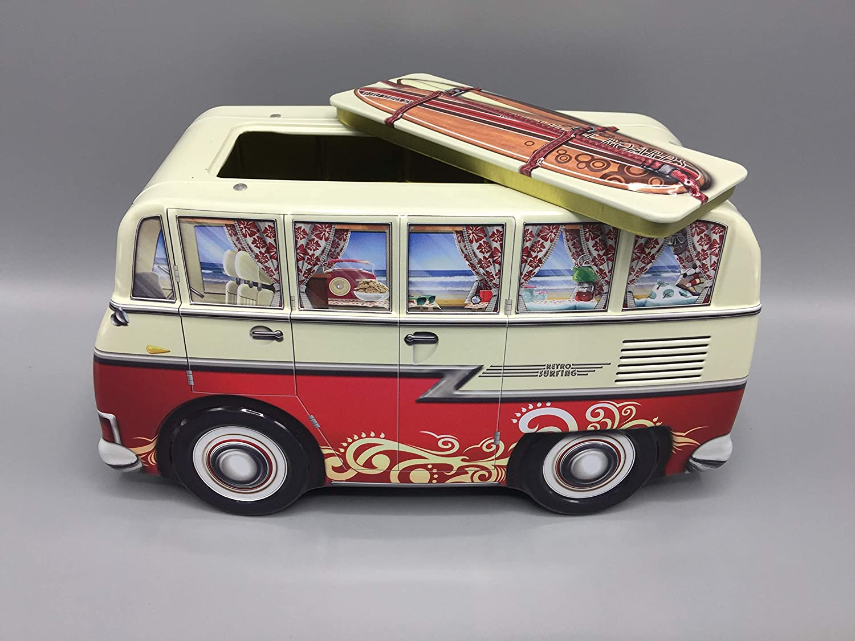 1,0L Aufbewahrung Keksdose Blechdose Vol POWERHAUS24 Mini Camper Dose Mini Van Blue