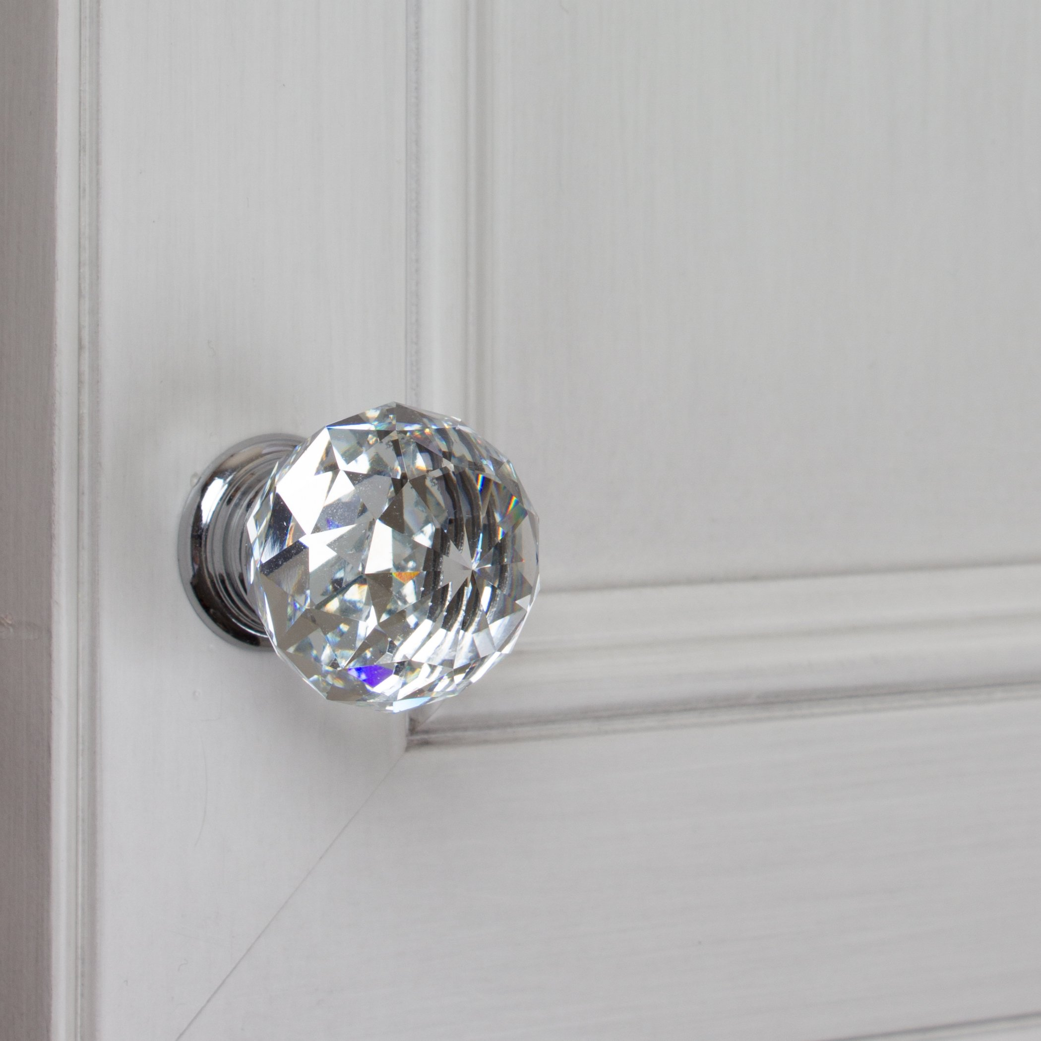 GlideRite Hardware 9003-CR-30-50 K9 Crystal with Polished Chrome Base Cabinet Knobs, 50 Pack, Small, Clear by GlideRite Hardware (Image #3)
