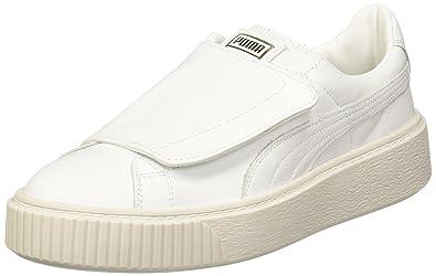 Basket Damen Neu Platform Strap Wms Puma Leder Sneakers Schuhe uTJ1lKc35F
