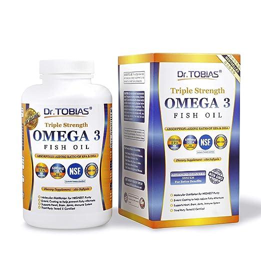 Dr. Tobias Omega 3 Fish Oil Triple Strength