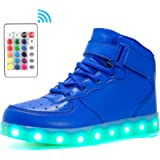 Voovix Kinder High-top LED Licht Blinkt Sneaker mit Fernbedienung-USB Aufladen Led Schuhe für Jungen und Mädchen