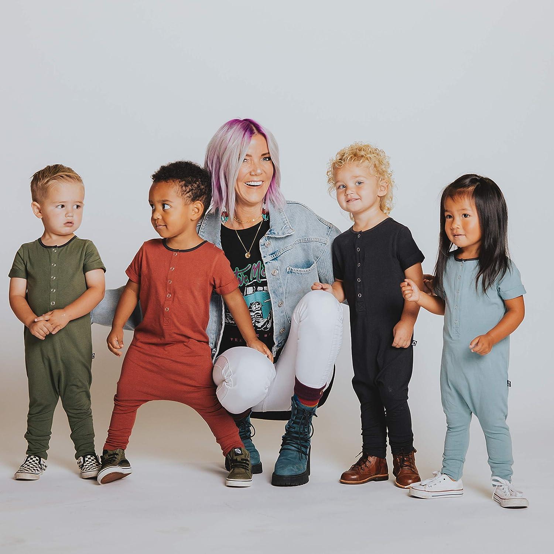 RAGS Unisex Kids Romper Essentials Short Sleeve Henley