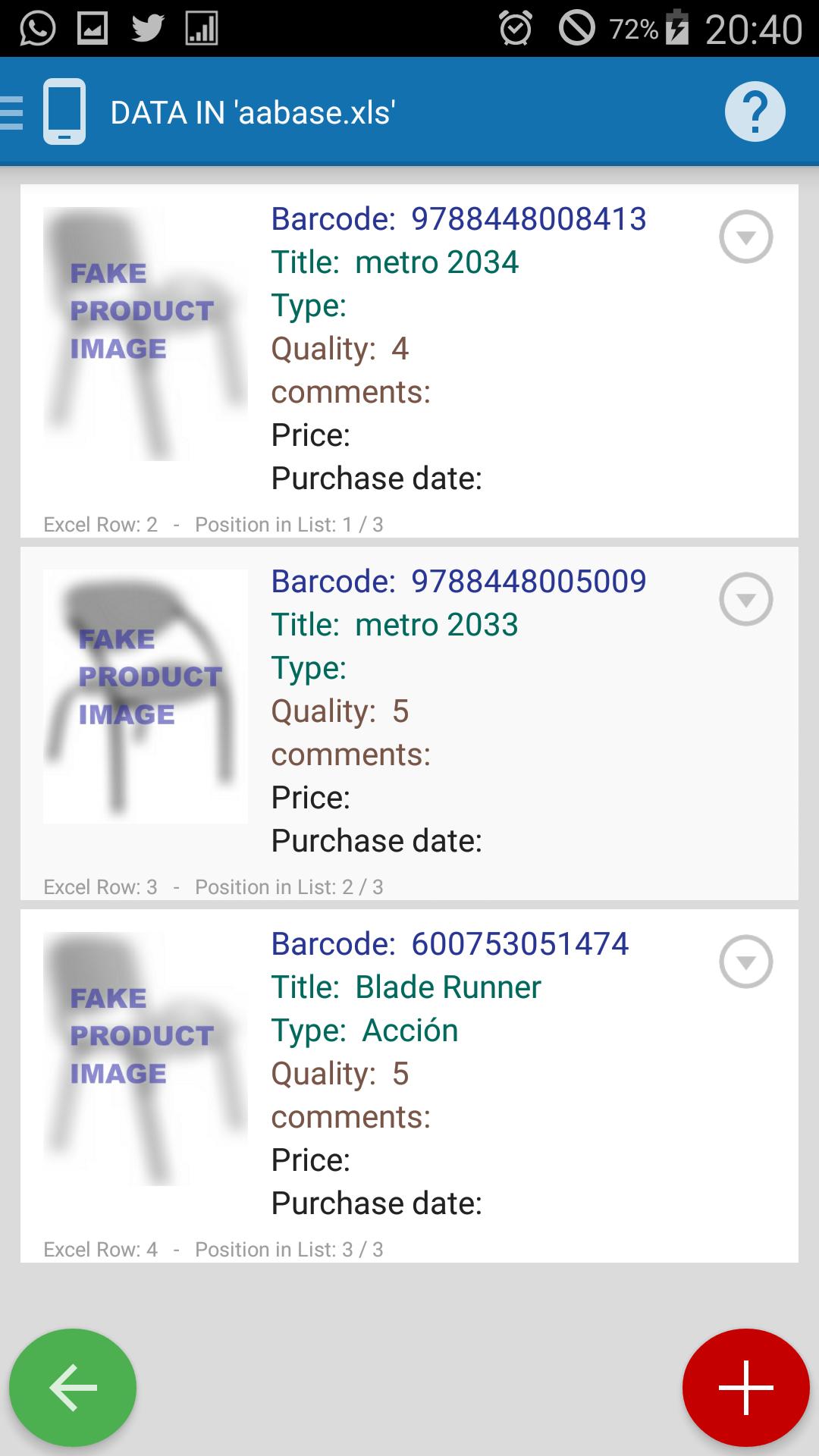 SCANPET barcode scanner & inventory & Excel & wifi scanner