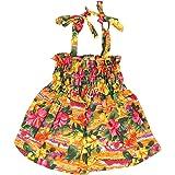 Parisian Pet Dog Summer Camp Hawaiian Flower Tropical Dress, L