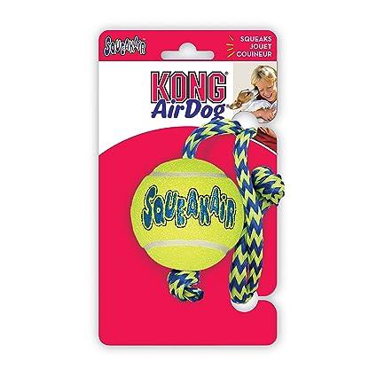 Kong 0035585774978 - Air squeaker tennis pelota medium with rope