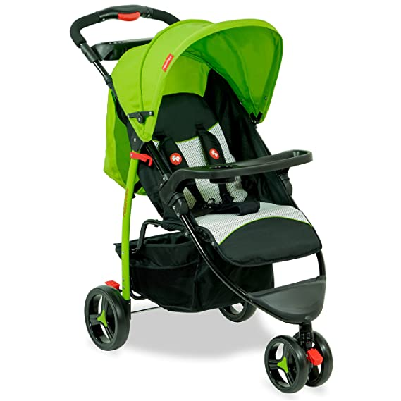 Fisher Price - Rover Stroller Cum Pram - Green Strollers at amazon
