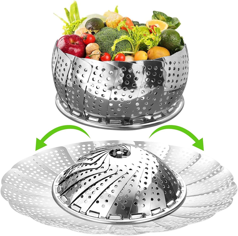 Vegetable Steamer Basket for Cooking, Large (6.5