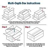BOX USA BMD1486R Multi-Depth Corrugated Boxes, 14