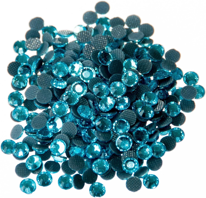Pack of 500 x AA Grade Aquamarine Hotfix Rhinestone Diamante Gems Size SS16 3.8-4mm