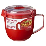 Sistema® Klip It-Suppenbecher, 900 ml, auslaufsicher, mikrowellengeeignet