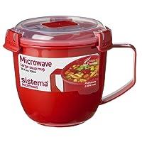 Sistema SI1141 Micro-Ondes Tasse à Soupe Plastique Rouge 13 x 13 x 12,5 cm 900 ML