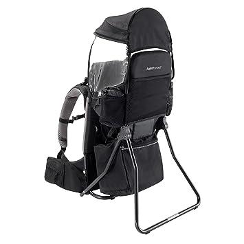 Aubert Concept mochila portabebé para espalda con Canopy Negro: Amazon.es: Bebé