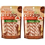 Scott Pet Products 60 Count Pork Chomps Bacon Twists Treat, Mini - 2 pack