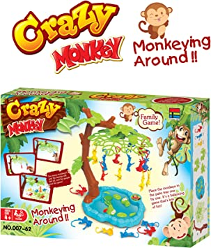 Monkeying Around Balancing Board Game - Crazy Monkey Divertido ...