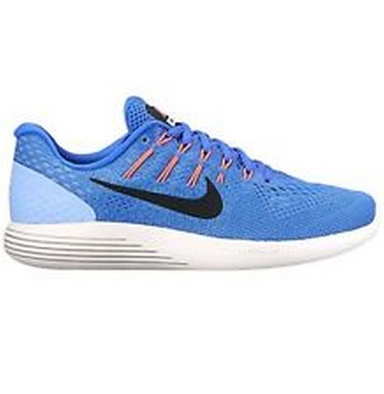 low cost 7b248 5a04a Amazon.com   Nike Womens Lunarglide 8 AA8677 406 Medium Blue Black-Aluminum  Size 11.5   Athletic
