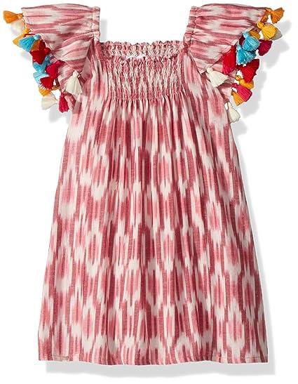 253f163c7ca8 Amazon.com  Masala Baby Girls Baby Sundancer Dress Ikat Pink  Clothing