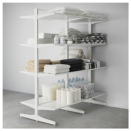 Cabina Armadio Algot Ikea.Zigzag Trading Ltd Ikea Algot Post Foot Shelves White Amazon Co