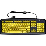Geemarc Big Letter Yellow Keyboard- UK Version